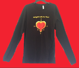Mens Long Sleeve Navigate With Your Heart T Shirt