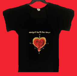 Slouchy Short Sleeve Navigate Your Heart T Shirt