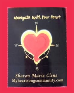 Navigate with your Heart Logo Magnet