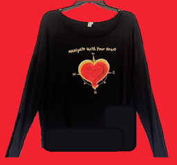 Slouchy Long Sleeve Navigate Your Heart T Shirt
